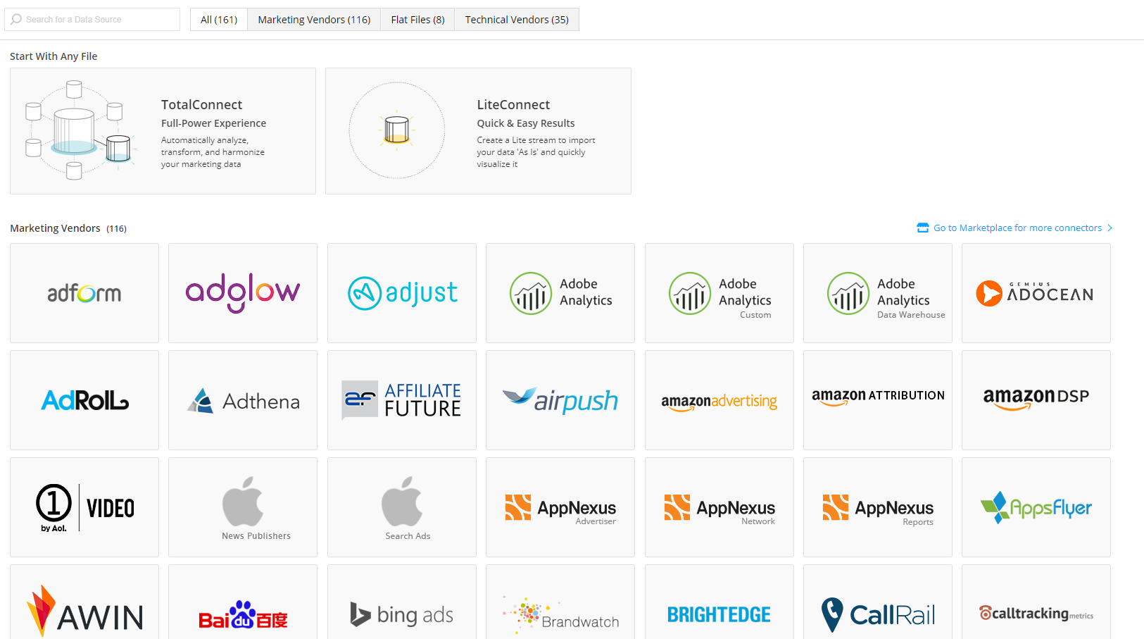 Datorama consolidates data from all major ad tech vendors in one place.